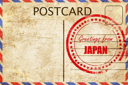 Greetings from japan card with some soft highlights stock photo greetings from japan card with some soft highlights stock photo 53782928 m4hsunfo
