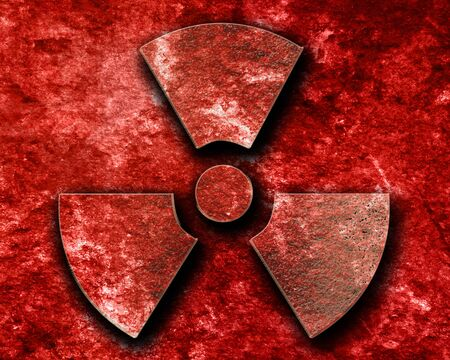 hazardous metals: Nuclear danger sign on a grunge background