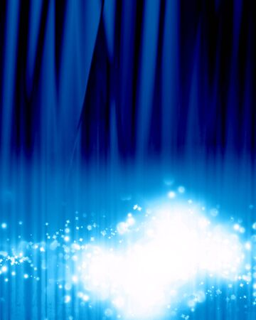 famous writer: Blue stage background with an intense blue spotlight