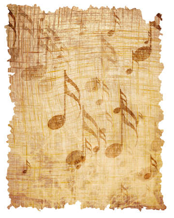 sonata: Old music sheet with some grunge effects and lines