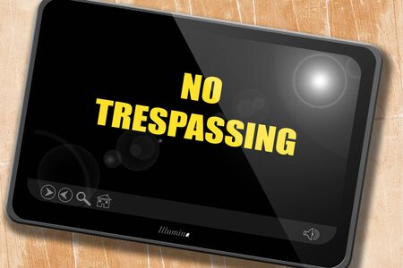 trespassing: No trespassing sign with black and orange colors