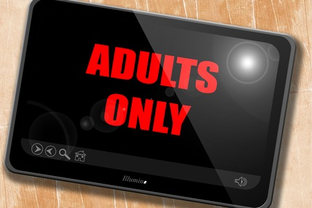 adults only sign with some vivid colors