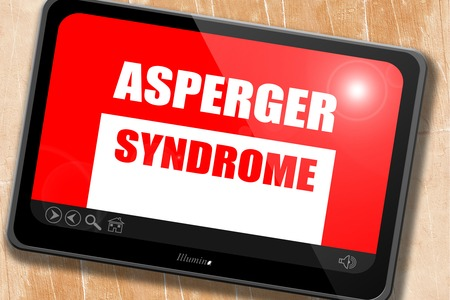 asperger: Asperger syndrome background with some soft smooth lines