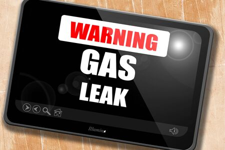 hazardous sign: Gas leak background with some smooth lines