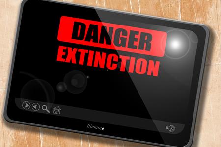 uranium radioactivity: apocalypse danger background on a grunge background Stock Photo