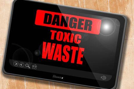 residuos toxicos: Muestra de los desechos t�xicos con unas l�neas suaves