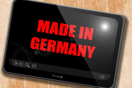 commerce and industry: Made in germany with some soft smooth lines Stock Photo