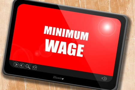 minimum wage: Sweat shop background with some smooth lines