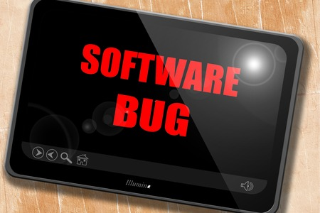 spy ware: Software bug background with some soft smooth lines Stock Photo