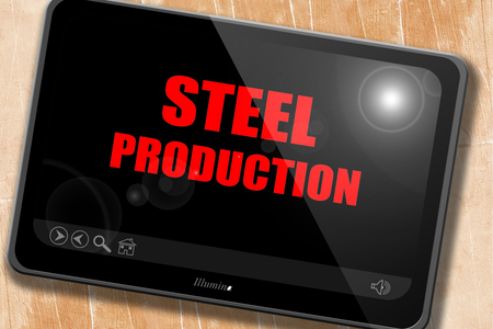 i beam: Steel background with smooth lines