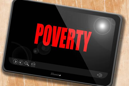 great depression: Poverty Recession sign background with some smooth lines