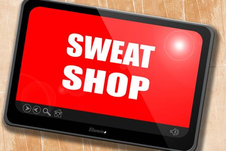 sweat: Sweat shop background with some smooth lines