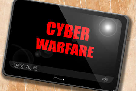 cyber war: Cyber warfare background with some smooth lines