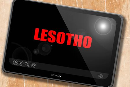lesotho: Greetings from lesotho card with some soft highlights