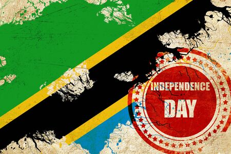 independent day: Tanzanian flag with some soft highlights and folds