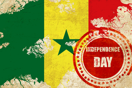 independent day: Senegal flag with some soft highlights and folds
