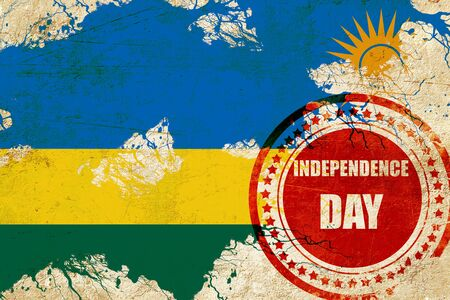 independent day: Rwanda flag with some soft highlights and folds
