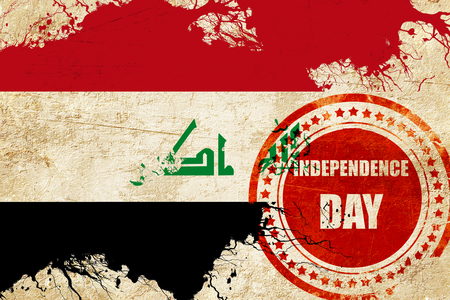 independent day: Iraq flag with some soft highlights and folds