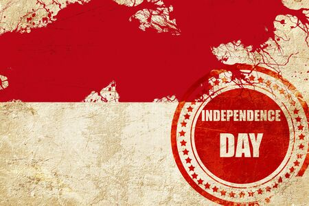 independent day: Indonesia flag with some soft highlights and folds Stock Photo