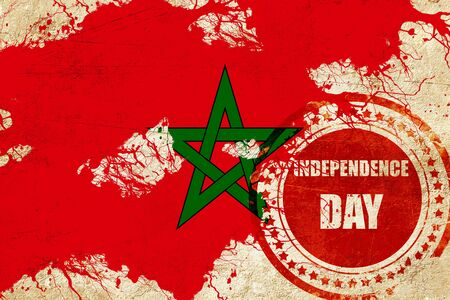 independent day: Morocco flag with some soft highlights and folds