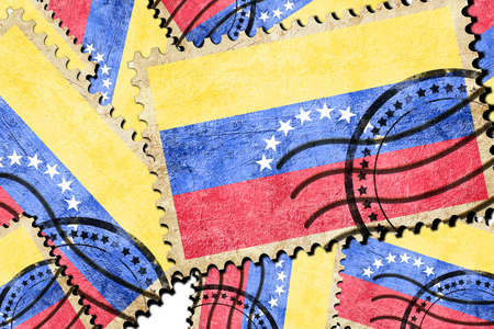 isolation backdrop: Venezuela flag with some soft highlights and folds
