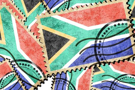 isolation backdrop: South africa flag with some soft highlights and folds Stock Photo