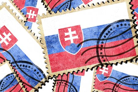 slovakia flag: Slovakia flag with some soft highlights and folds