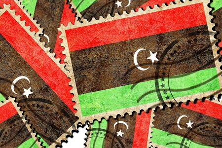 isolation backdrop: Libya flag with some soft highlights and folds