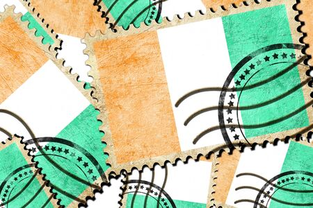 isolation backdrop: Ivory coast flag with some soft highlights and folds