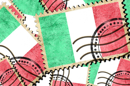 isolation backdrop: Italy flag with some soft highlights and folds