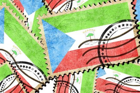 isolation backdrop: Equatorial guinea flag with some soft highlights and folds