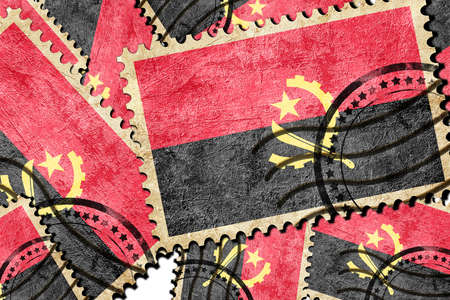 isolation backdrop: Angola flag with some soft highlights and folds