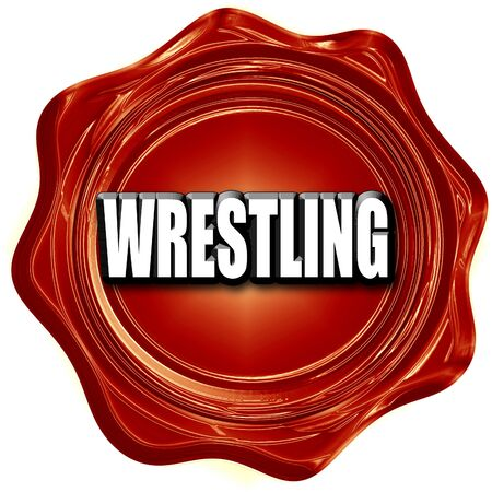 wrestle: wrestling sign background with some soft smooth lines Stock Photo