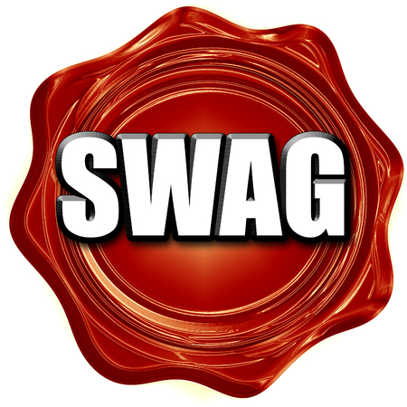 swag: swag internet slang with some soft smooth lines