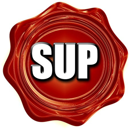 sup: sup internet slang with some soft smooth lines
