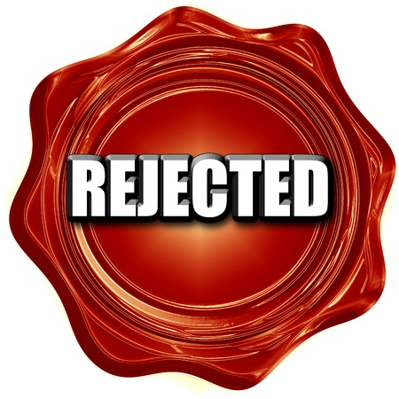 dismiss: rejected sign background with some soft smooth lines Stock Photo
