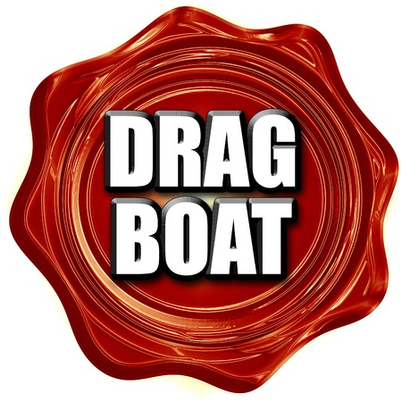 drag: drag boat sign with some soft smooth lines Stock Photo