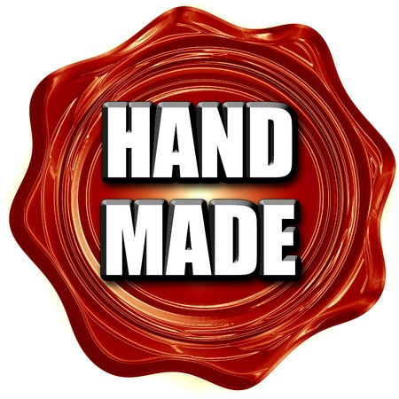 made to order: hand made sign with some smooth lines Stock Photo