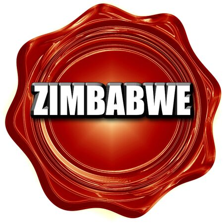 zimbabwe: Greetings from zimbabwe card with some soft highlights