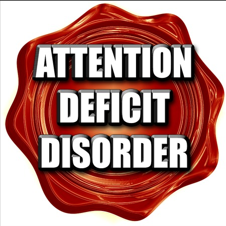 deficit: Attention deficit disorder with some soft smooth lines Stock Photo