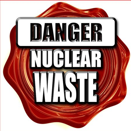 caution chemistry: Nuclear danger background on a grunge background Stock Photo