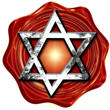 jews: Star of david with some soft flowing lines