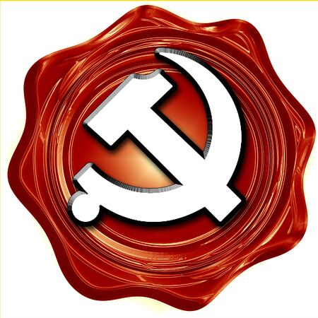 communism: Communist sign with red and yellow vivid colors