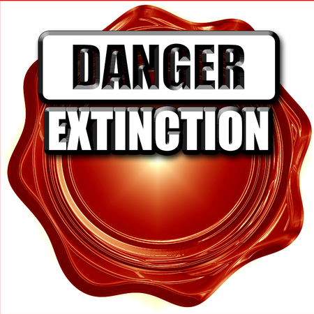 meltdown: apocalypse danger background on a grunge background Stock Photo