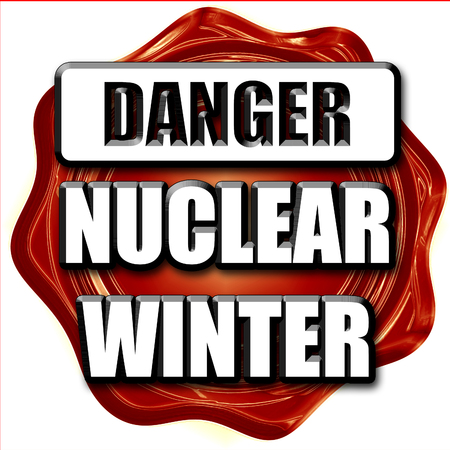 meltdown: Nuclear danger background on a grunge background Stock Photo