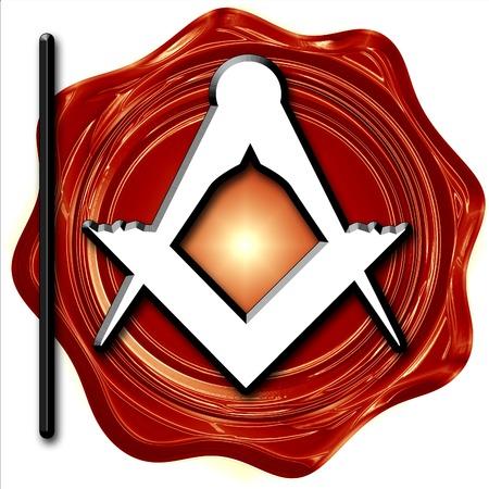 freemasonry: Masonic freemasonry symbol with some soft smooth lines