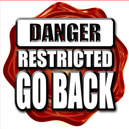 back problem: Go back sign with some smooth lines