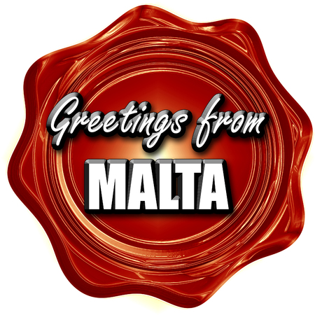 malta: Greetings from malta card with some soft highlights Stock Photo