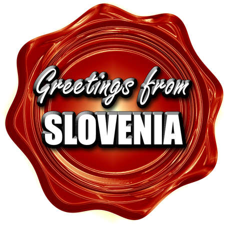 Greetings from slovenia card with some soft highlights