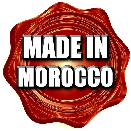 made in morocco: Made in morocco with some soft smooth lines Stock Photo